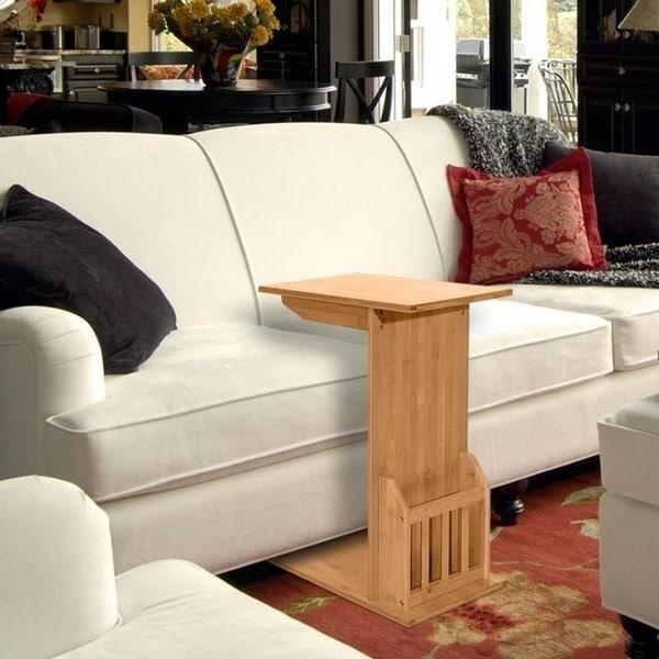 Shop L-Shape Bamboo Furniture Sofa Side/ End/ Coffee Table