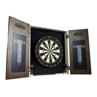 Barrington Bellevue Collection Premium Bristle Dartboard Cabinet Set