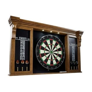 Barrington Woodhaven Premium Bristle Dartboard Cabinet Set