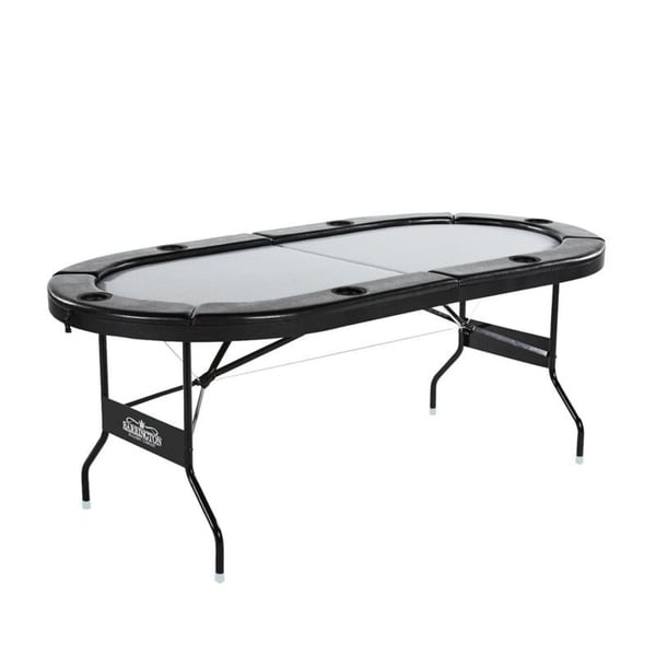 Gray No assembly required Barrington 6 Player Poker Table