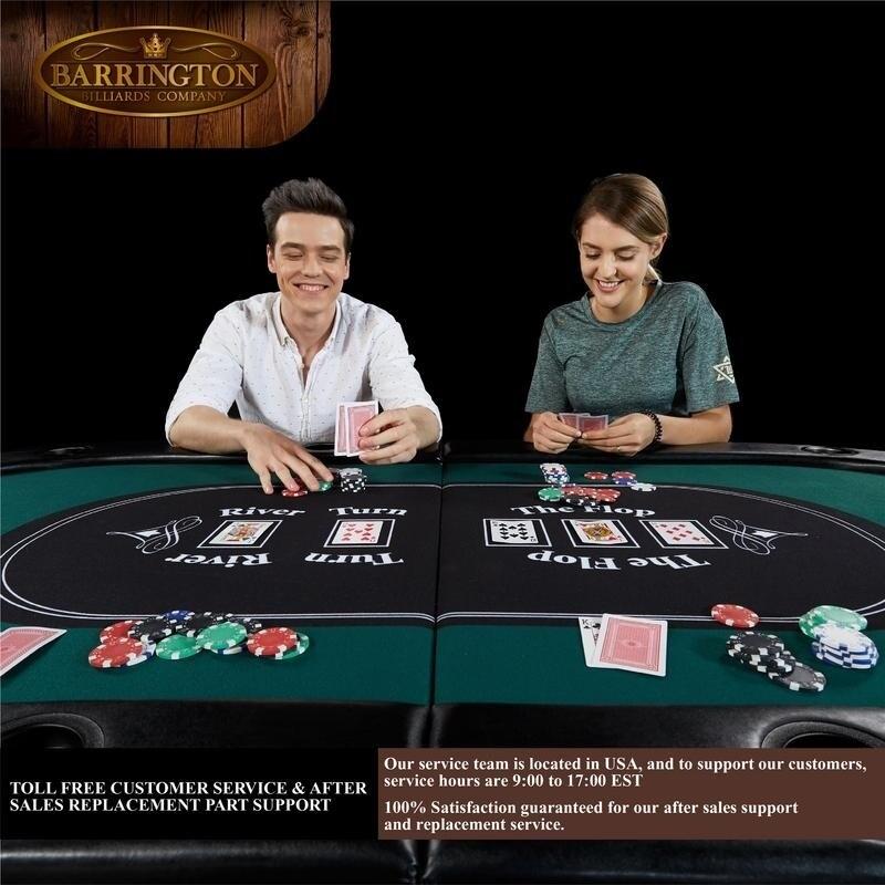 Barrington 10-Player Poker Table New Game Family Casino Vegas 10 Player Games