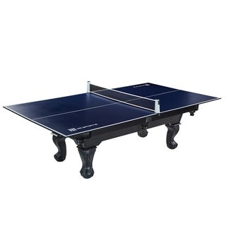 MD Sports Table Tennis Conversion Top with Retractable Net - Blue - N/A
