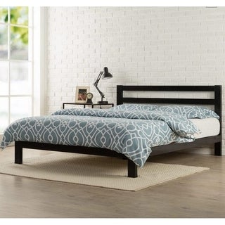 Twin/Full/Queen 550lbs Wood Slat Platform Metal Bed Frame