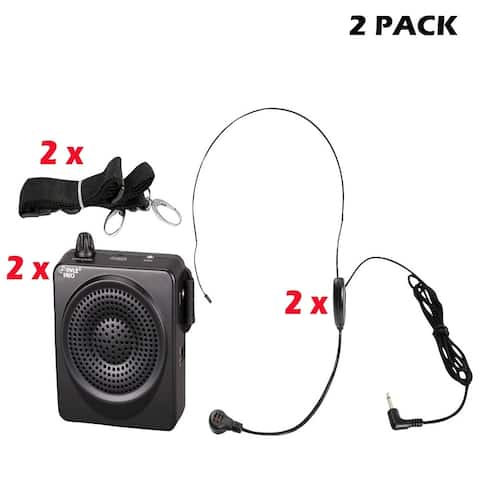 (2) PylePro PWMA50B Compact & Portable PA Speaker System