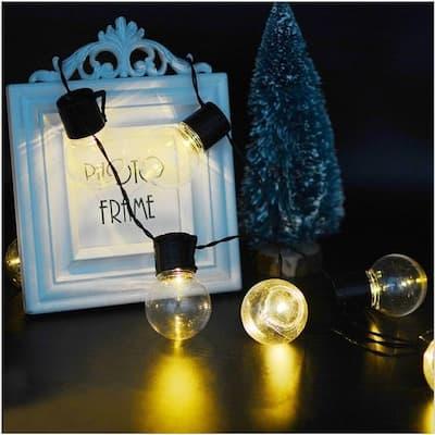 LED Solar Power String Lights Ball Shaped Bulbs wedding Decor Outdoor Lights