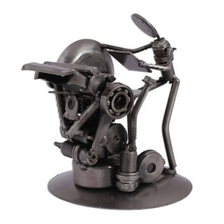 Rustic Printer Recycled Metal Sculpture - Mexico
