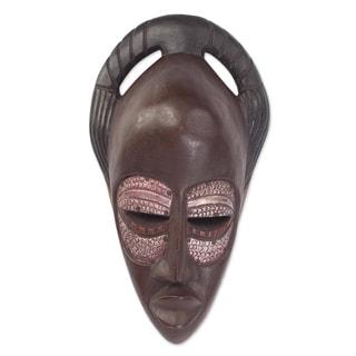 Iron Eyes Ewe Wood Mask - Ghana