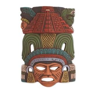 Mayan Pyramid Ceramic Mask - Mexico