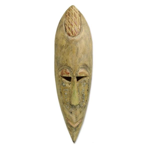 Akwapim King Ghanaian Wood Mask - Ghana