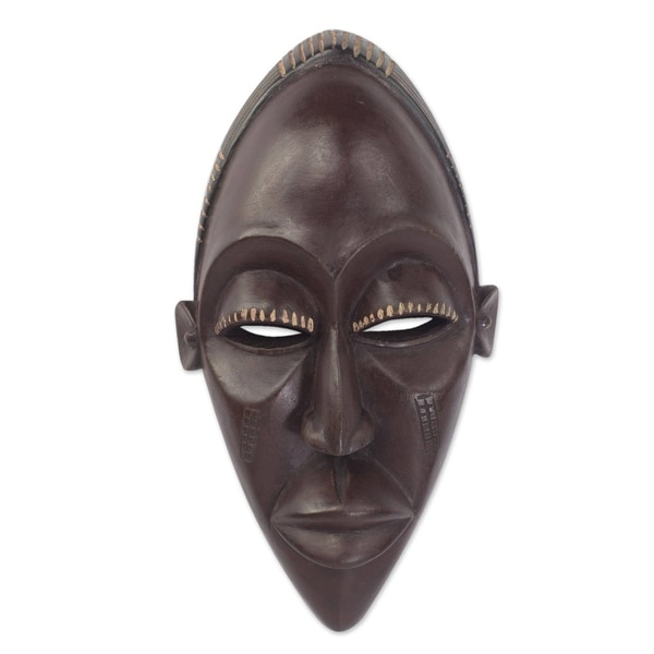 Congo Court Adviser Congolese Wood Mask - Ghana