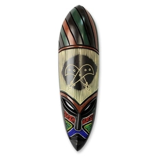 Akofena African Wood Mask - Ghana