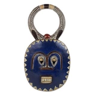 Handmade Baule Moon Blessing Wood Mask (Ghana)
