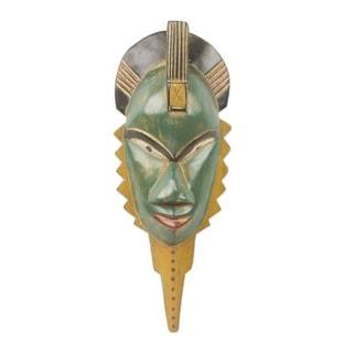 A Healer African Wood Mask - Ghana