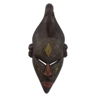 Young Strength African Wood Mask - Ghana