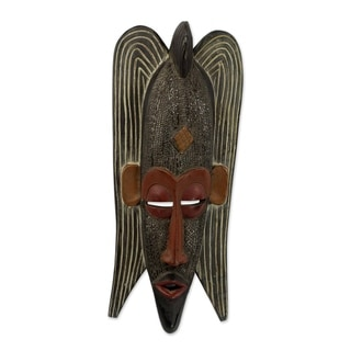 Quiet Protector African Wood Mask - Ghana