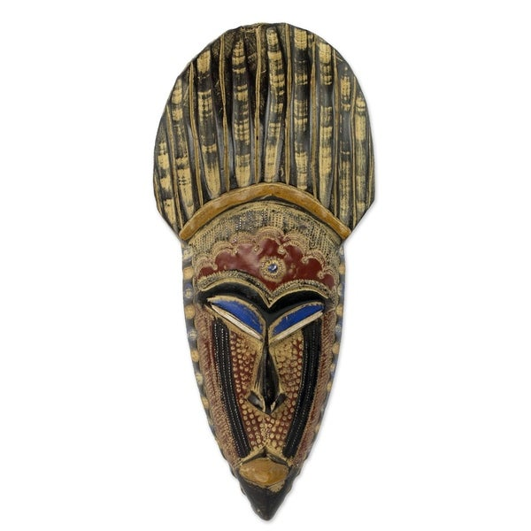 May Kudi African Wood Mask - Ghana
