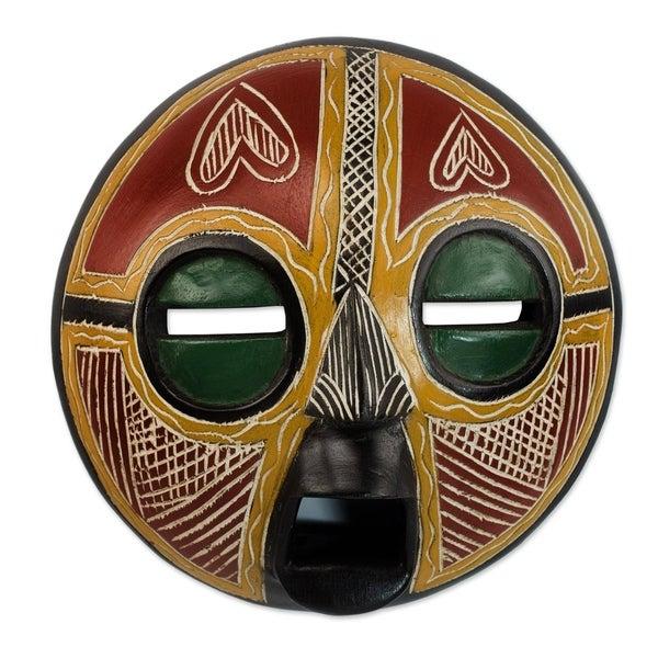 Heart Of Africa African Wood Mask - Ghana