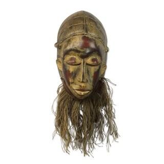 Bearded Baule African Wood Mask