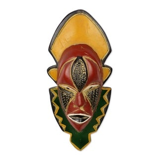 Handmade Narrow View Wood Mask (Ghana)