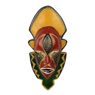 Narrow View African Wood Mask - Ghana