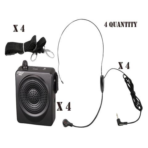 (4) PylePro PWMA50B Compact & Portable PA Speaker System
