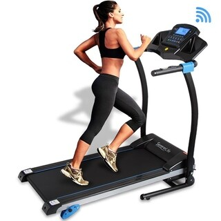 SereneLife Digital Treadmill with Downloadable App,Built-in MP3 Player