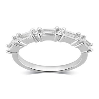 Link to Divina Sterling Silver Created White Cubic Zirconia Eternity Band Similar Items in Rings