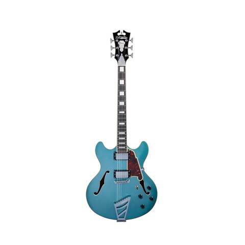 D'Angelico Premier DC Semi-Hollow Electric Guitar w/ Stairstep Tailpiece - Ocean Turquoise