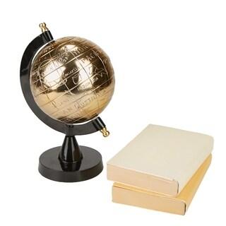 Mind Reader Desktop Globe, Accent Piece Geography, Rotating Desktop Table Earth Décor, Black