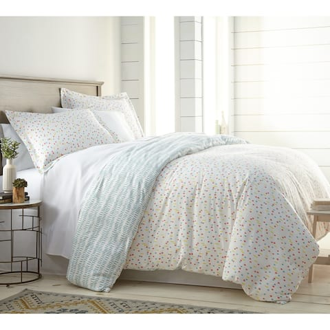 Vilano Choice 3-piece Confetti Reversible Printed Duvet Cover Set