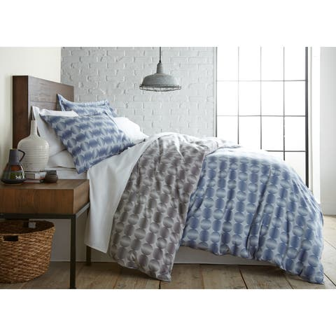 Vilano Choice 3-piece Reversable Modern Sphere Printed Duvet Cover Set