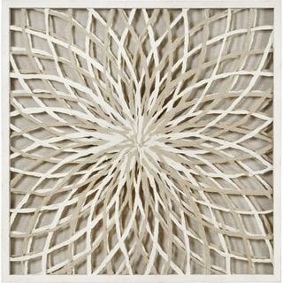 Strick & Bolton Framed Brown/ White Paper Wall Art