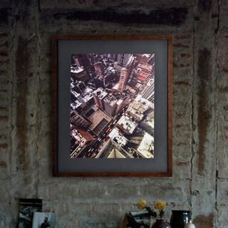 Renwil Highline Rectangular Black Framed Rag Paper Wall Art - Brown/Multi/White