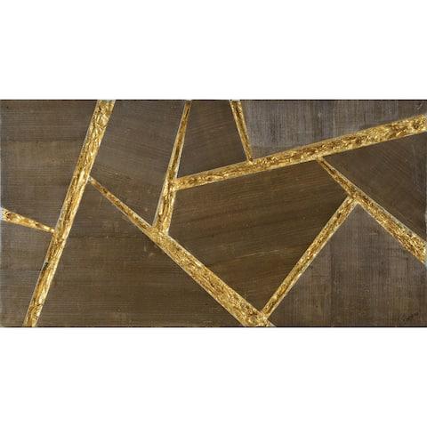 Renwil Omnia Rectangular Unframed Solid Foam Block and Wood Veneer Wall Art - Brown/Multi