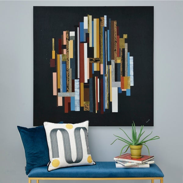 Strick & Bolton Multi-colored Pine Wood Wall Art