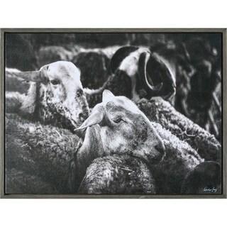 Renwil Suffolk Rectangular Chocolate Framed Canvas Wall Art - Black/White