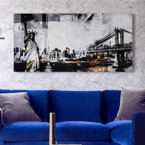 Strick & Bolton Unframed Black/ White Canvas/ Plexiglass Wall Art