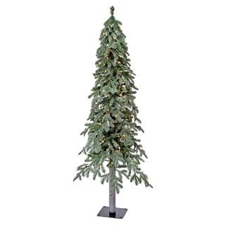 5 Ft Micro LED Winter Frost Alpine Tree Multi-Color