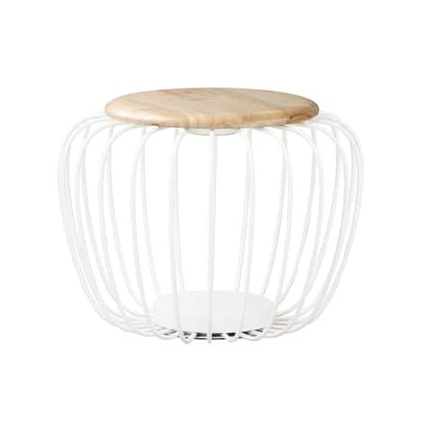 """Cage 19.75"""" Wide Steel Floor Lamp"""
