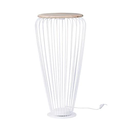 """Cage 20.5"""" Wide Steel Floor Lamp"""