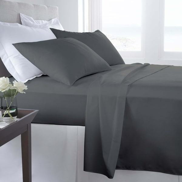 d71284d121b1 Shop 200 Thread Count Cotton Solid Sheet Set Double/Full Smoked Pearl - On  Sale - Free Shipping On Orders Over $45 - Overstock - 22856340
