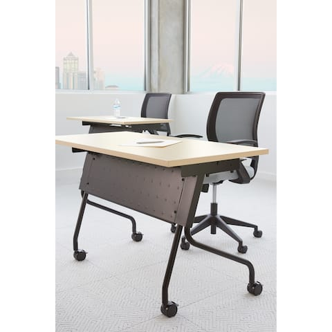 Office Star Flip-Top Training Table 48 x 24 with Black Frame