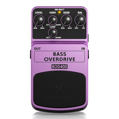 Behringer Bass Overdrive BOD400 Authentic Tube-Sound Overdrive Effects Pedal - N/A