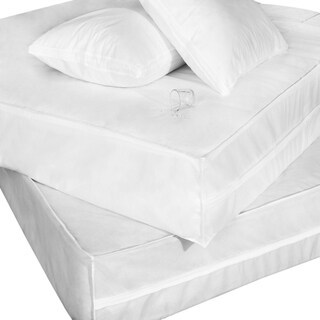 Permashield Bed Bug Dust Mite Antibacterial Bed Box Spring and Pillow Protector Set