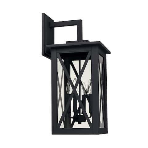 Avondale 4-light Black Outdoor Wall Lantern