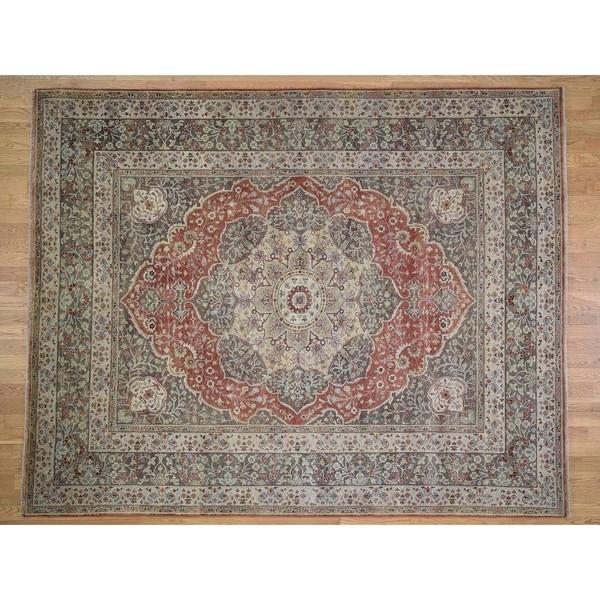 Hand Knotted Heriz Wool Fine Persian Oriental Area Rug: Shop Hand Knotted Grey Heriz With Wool Oriental Rug (8'1
