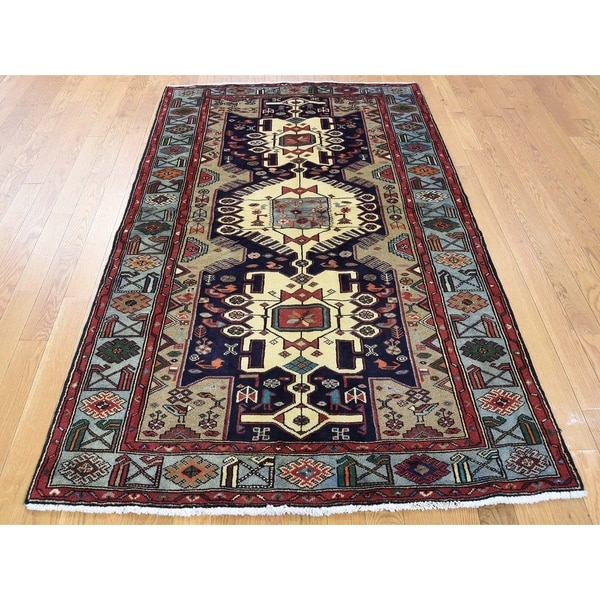 Shop Beige Wool Hand Knotted Oriental Persian Area Rug 6: Shop Hand Knotted Beige Persian With Wool Oriental Rug (4
