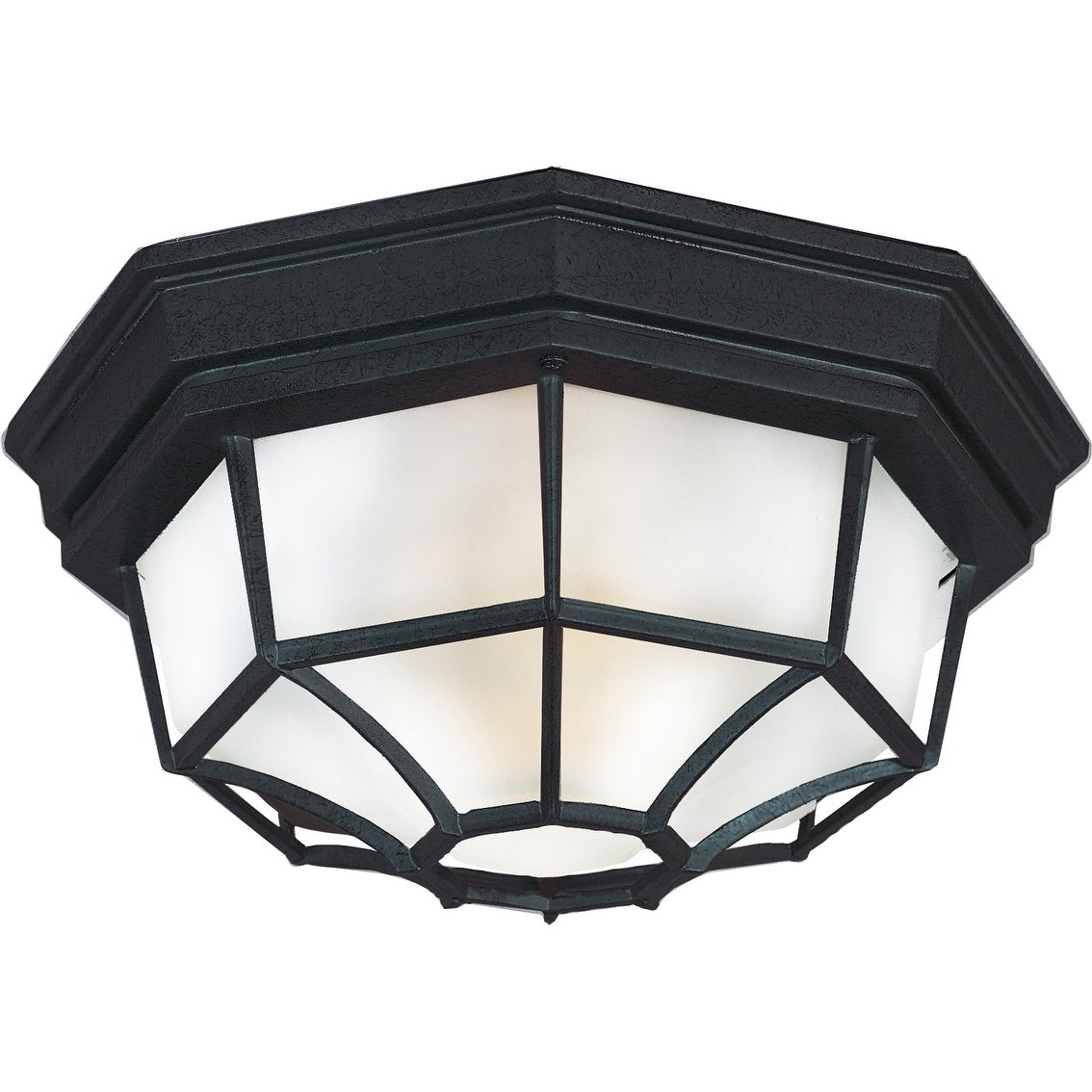 Shop Crown Hill 10 75 Wide Aluminum Outdoor Ceiling Light Overstock 22858514