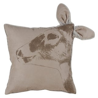Deer Head Throw Pillow With Down Filling