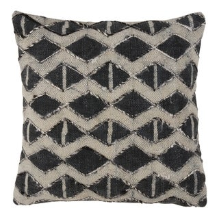 Embellished Diamond Down Filled Cotton Throw Pillow